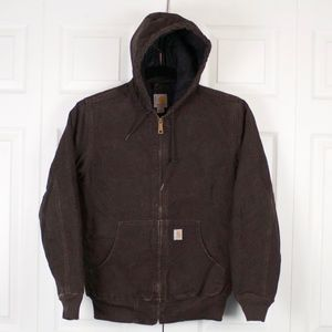 Carhartt Womens Brown Quilted Flannel Lined Jacket